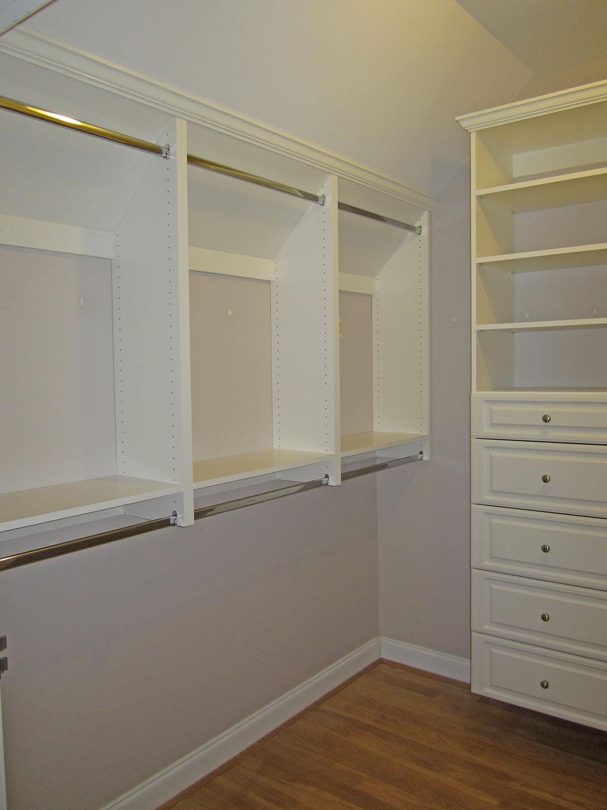 Custom Angled Closet
