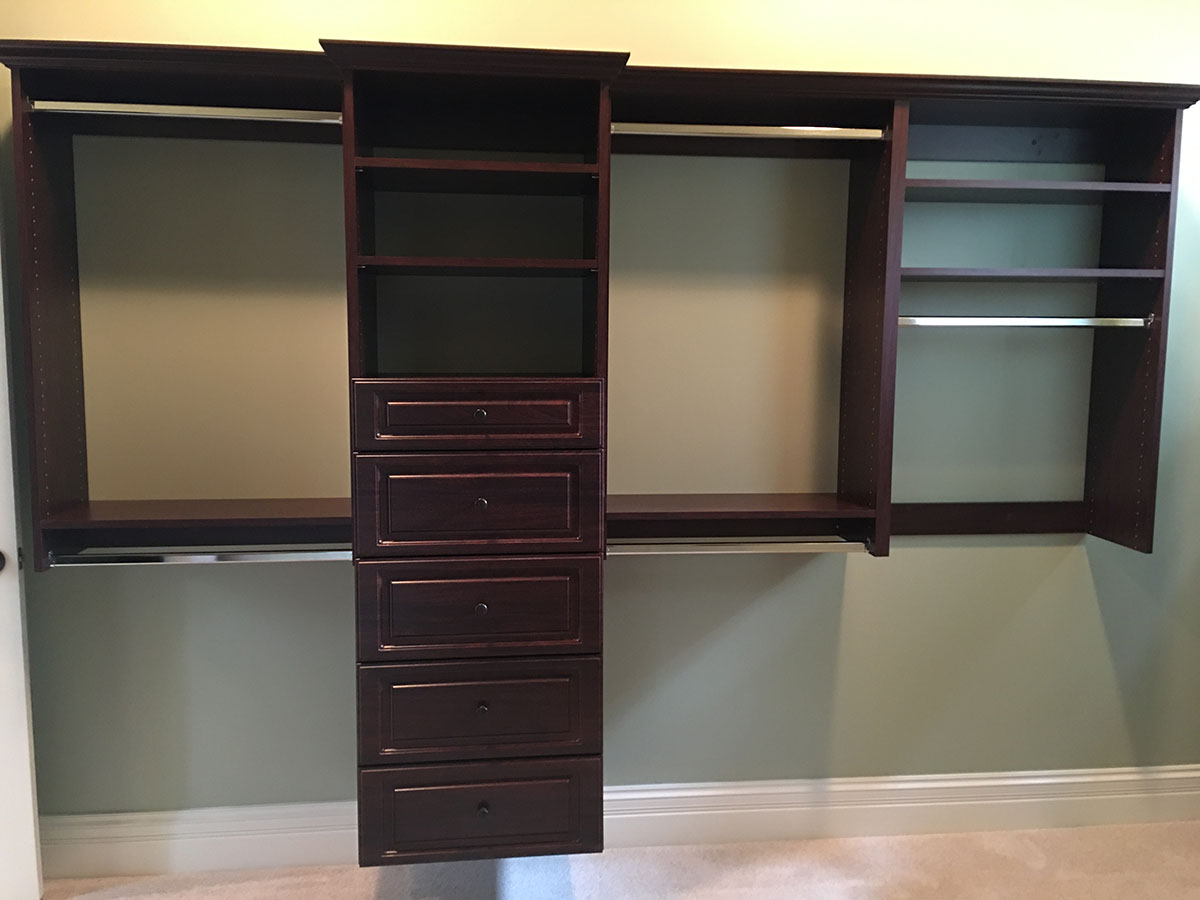custom closet brown