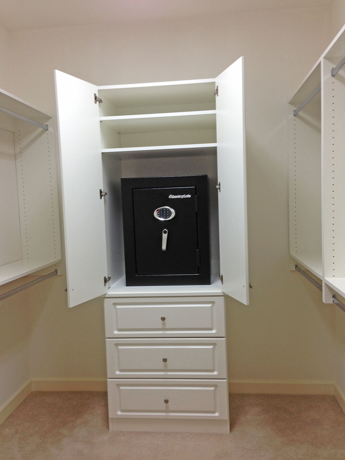 custom closet safe storage