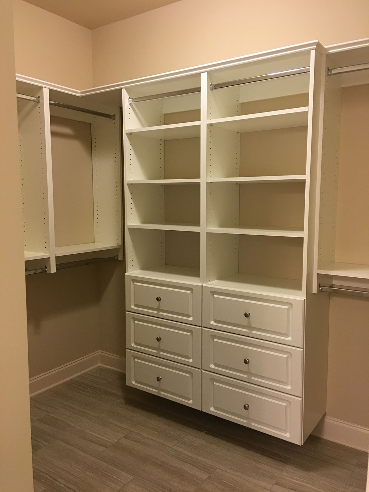 custom closet wardrobe rod