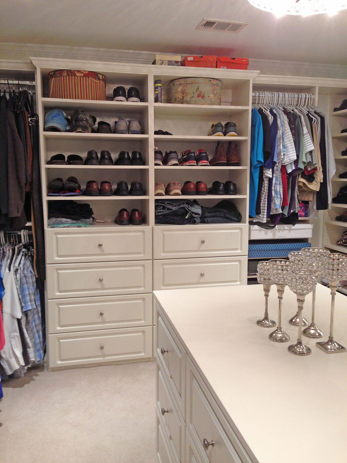 Gallery Custom Closets Garages Offices Pantries Georgia With Closet Island.