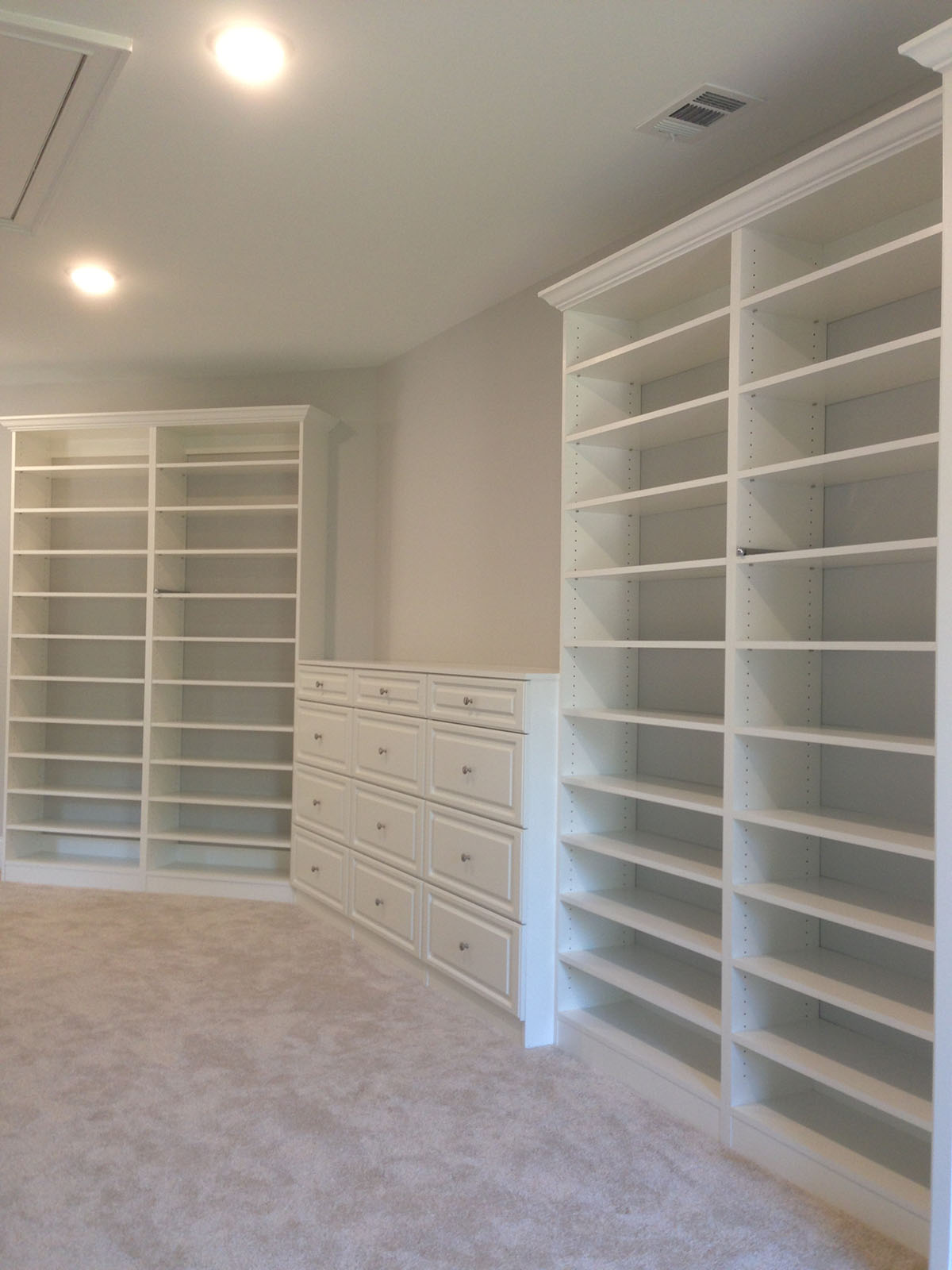 white custom closets