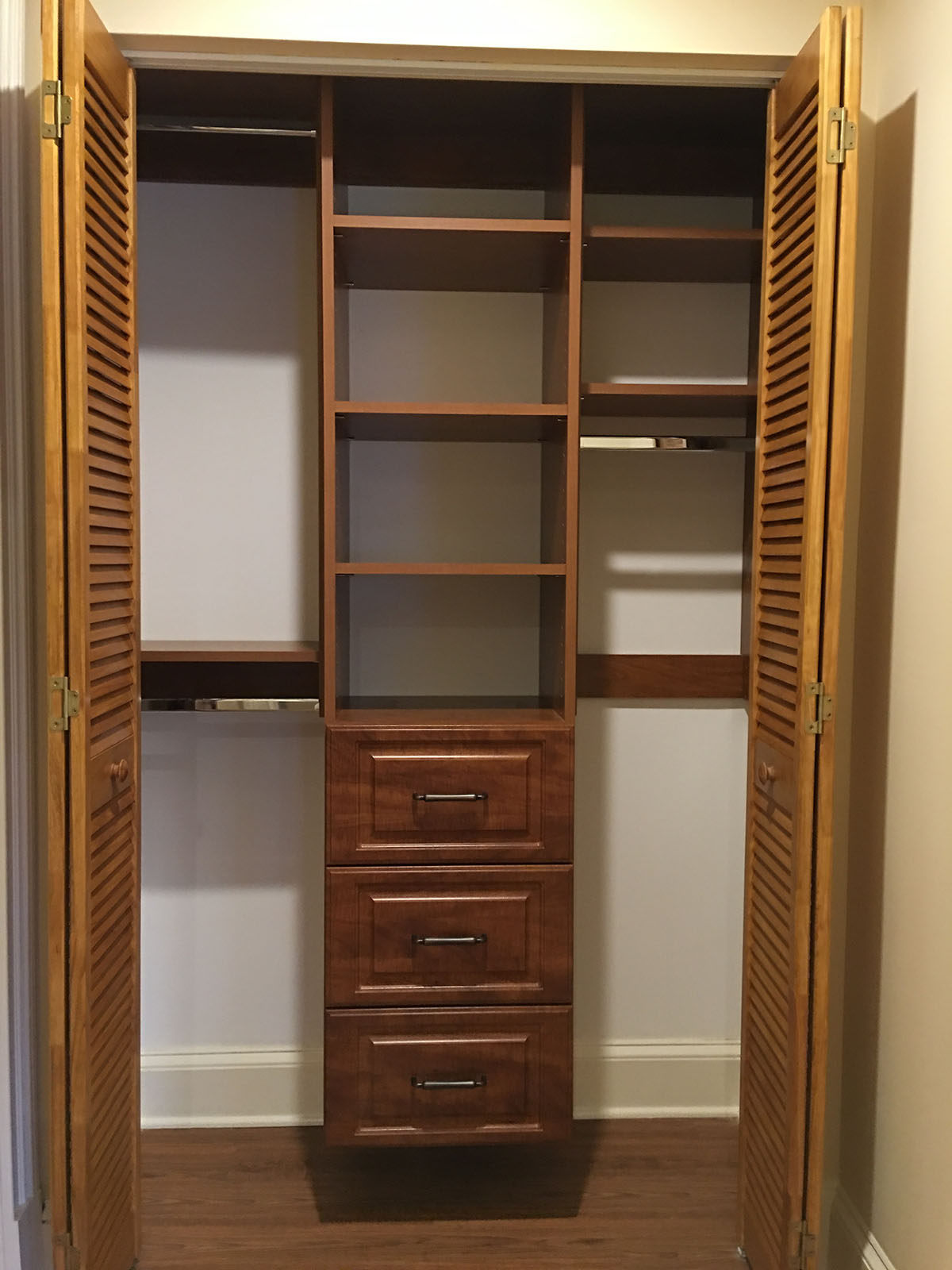 custom brown closets