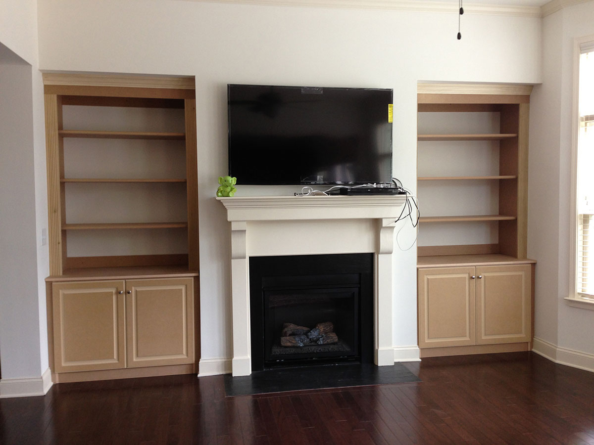 custom tv room cabinets