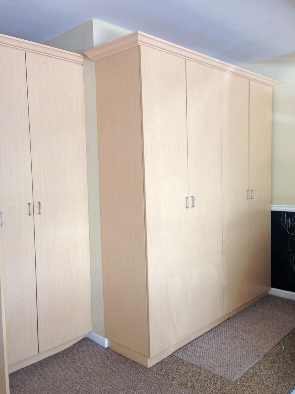 Custom garage cabinets storage work bench georgia closet - Simple garage storage cabinets in cool structured design ...