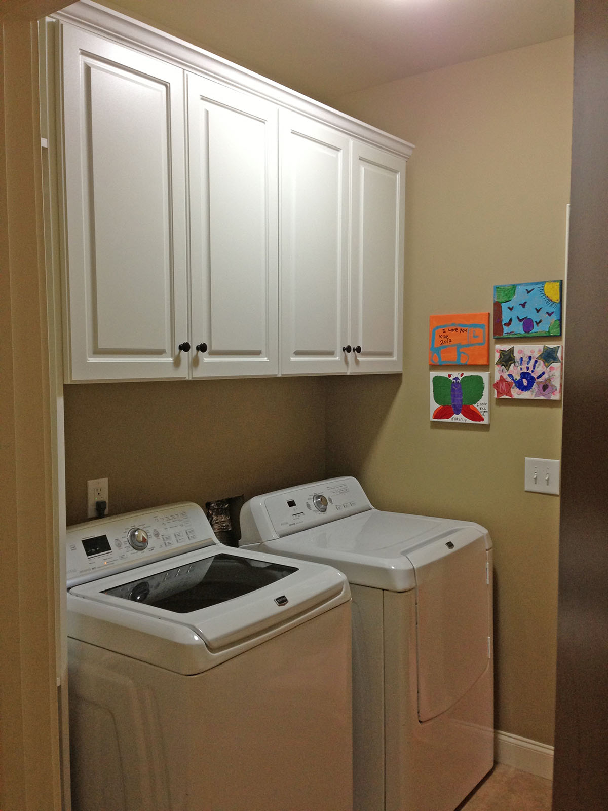 Custom Laundry Room Shelves