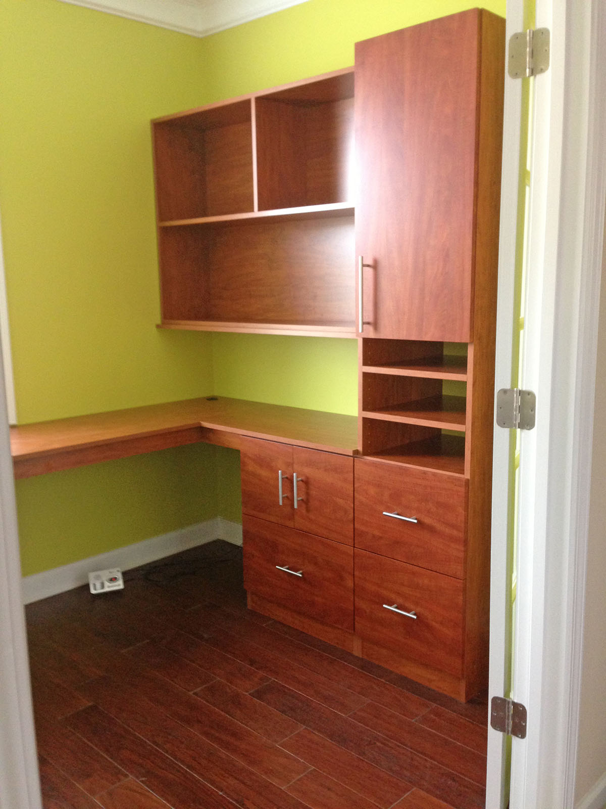custom office cabinets | storage | shelves | georgia closet