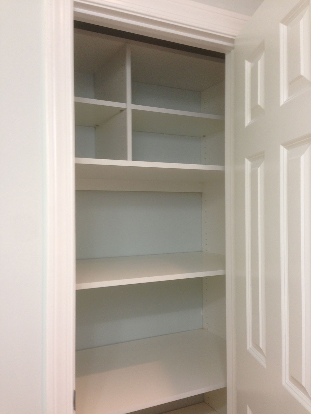 Office In A Closet. Custom Office Cabinets In A Closet