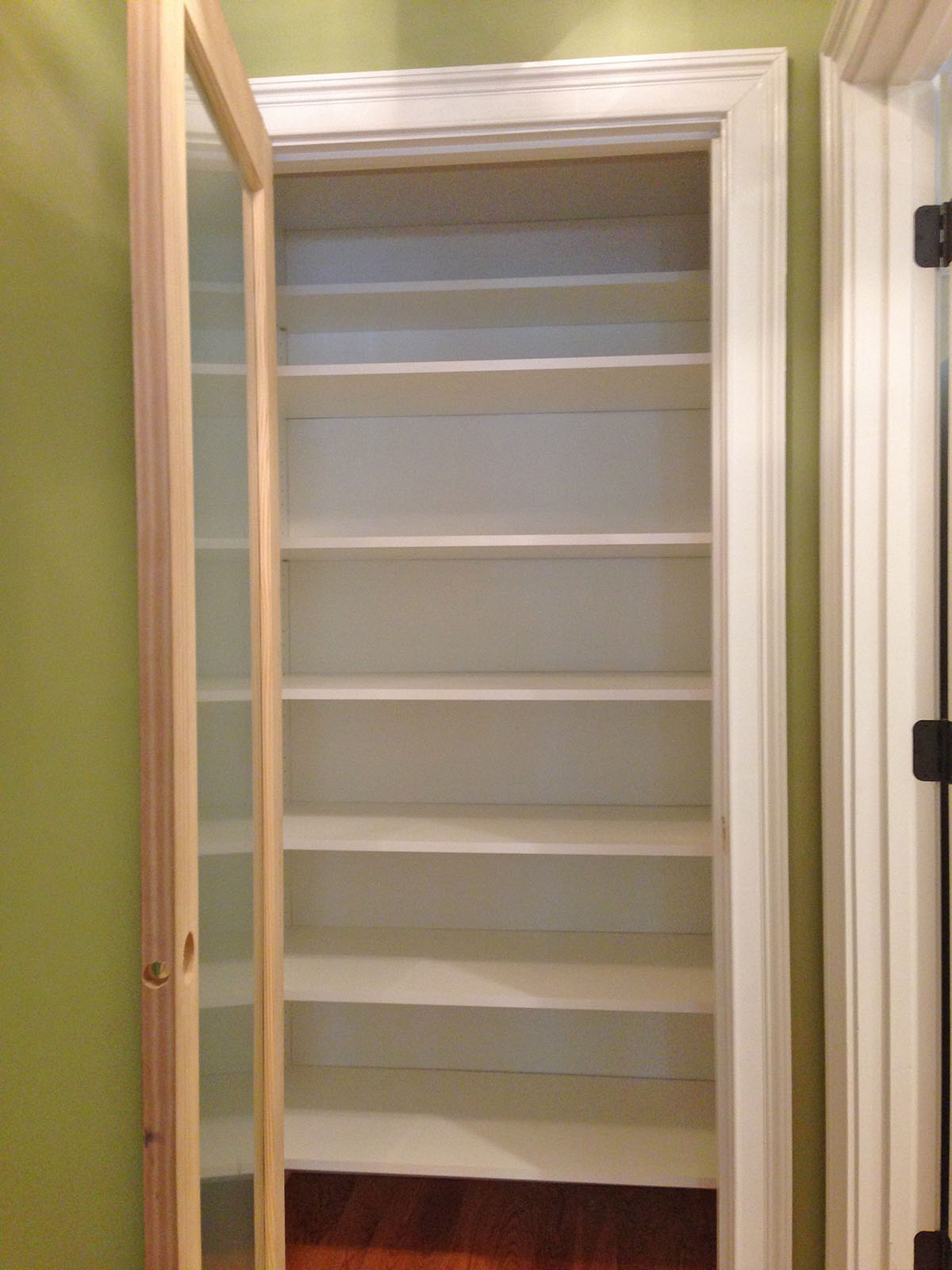 custom pantry shelves